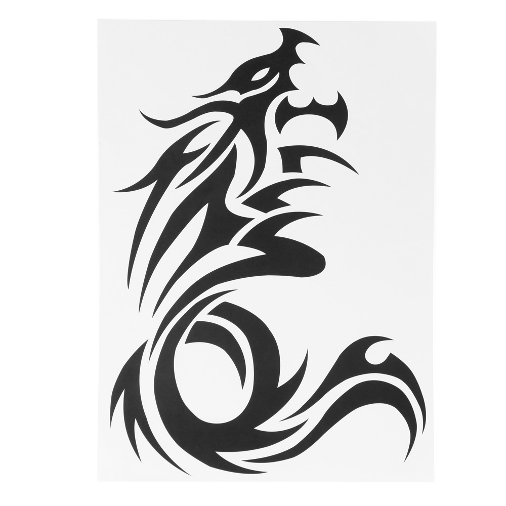 Paper Basket Picture More Detailed Picture About Tattoo Sticker Dragon Waterproof Body Art