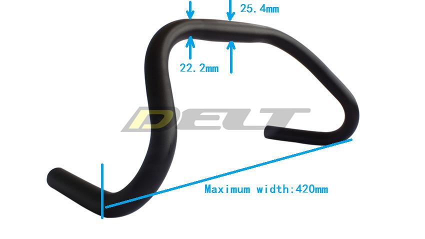 Road Bicycle bend handlebar Fixed Gear cyclingt Bike venues stationary 25 4 22 2 420
