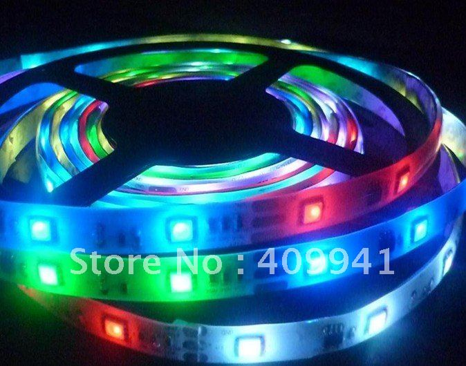 Free shipping HL1606 Dream Color RGB SMD 5050 Flexible LED Strip Ribbon Rope Light kits 5 Meters with 32LEDs/M 32 Image Pixel(China (Mainland))