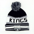 Letter LA Kings Beanie hat Winter knitted pompom hockey Sport cap Unisex warm acrylic knit hat