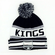 Letter LA Kings Beanie hat Winter knitted pompom hockey Sport cap Unisex warm acrylic knit hat Beanies hats Wholesale 0790*03