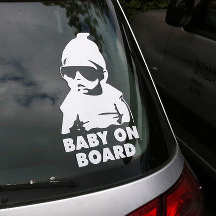 Мода прекрасный ребенок на борту предупреждающая светоотражающие водонепроницаемый окна автомобиля виниловые наклейки цвет черный белый CAR-0077