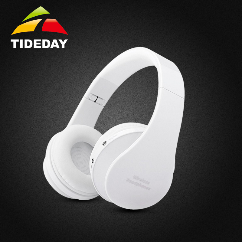 White TIDEDAY 8252 Bluetooth Bests Stereo Sound Headphones Wireless Headset Handsfree Foldable Earphone with Mic for your Phone<br><br>Aliexpress