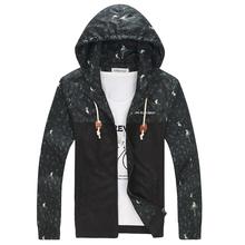 2015 New Spring Autumn New Men's Jacket Casual Hooded Outdoor Sport jacket Men Fashion Coats ,Mens Outwear  Plus Size 4XL 5XL(China (Mainland))