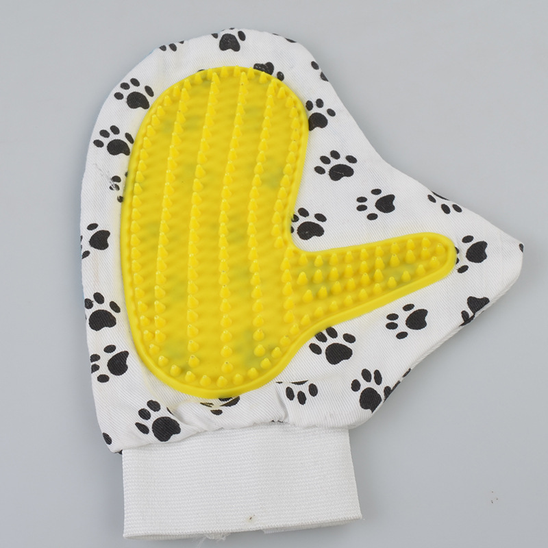 Dog Grooming Brush Cleaning Bath Gloves with Brush for Pets Comfortable Plastic Comb for Products Supplies PETC020(China (Mainland))