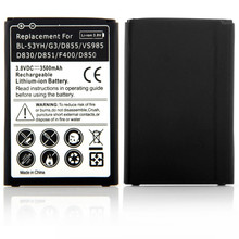 New High Capacity 3500mAh Lithium Rechargeable Batteria Replacement For LG G3 D855 VS985 D830 D851 F400 D850 Battery 3.8V(China (Mainland))