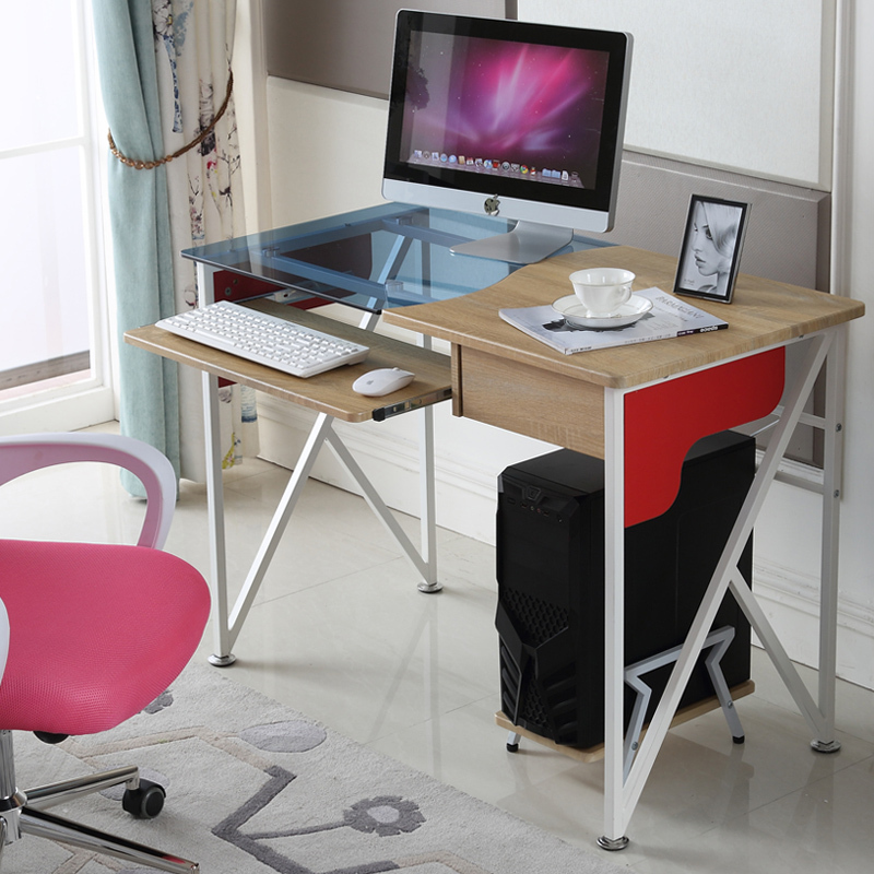 Shengguan desktop computer desk laptop home office steel wooden table with drawers Conference table dining corner Specials(China (Mainland))