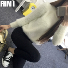 2016 winter mohair sweater hedging short paragraph female Korean sweater coat thick loose clothes College wind C080(China (Mainland))