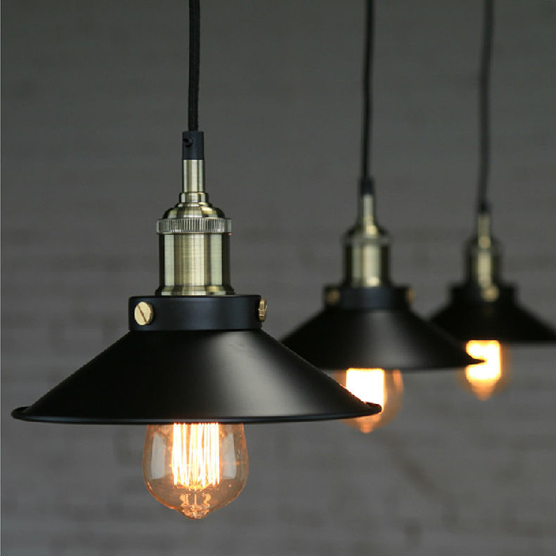 buy loft vintage iron black pendant