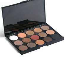 15 Color Eyeshadow Palette Earth Warm Nude Matte Shimmer Eye Makeup Eye Shadow Set New Arrival(China (Mainland))