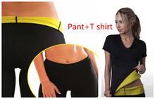 Женщины управление трусики простирание неопрен для похудения брюки тело шейпера футболки тренировка корсеты боди