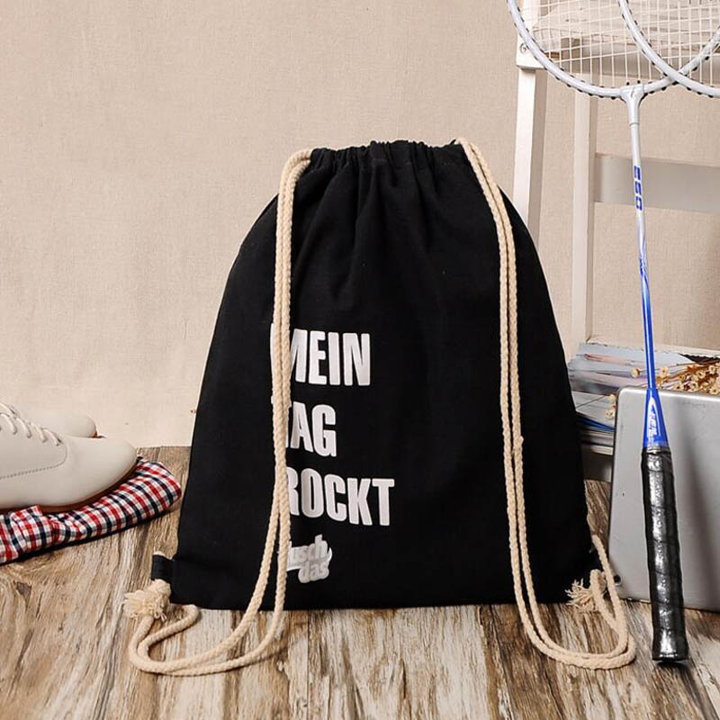 Brand Backpack Fashion Printed Pattern Pattern Black Boy'S Backpacks Women's Lady Travel Shopping Drawstring Bag(China (Mainland))
