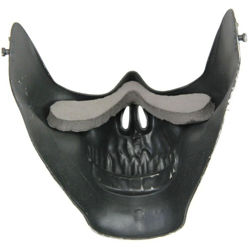 Promotion ! Skull Skeleton Airsoft Paintball Half Face Protect Mask For Halloween(China (Mainland))