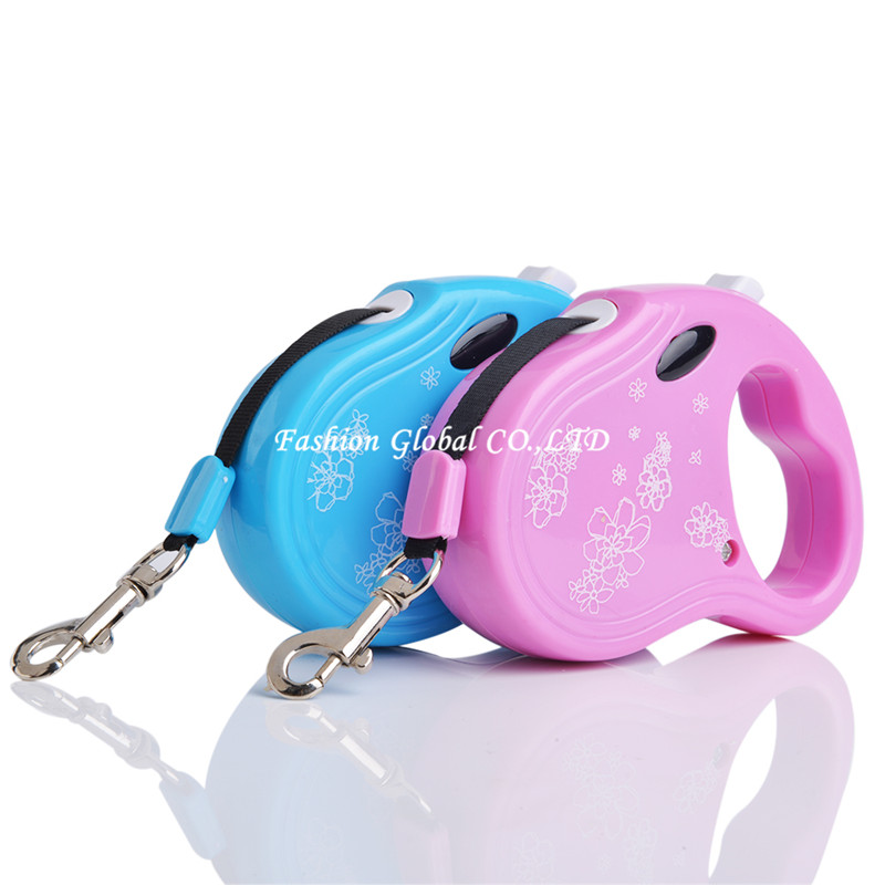 High Quality Pet Leash 3M Length ABS Material Puppy Dog Cat Retractable Leash Lead(China (Mainland))