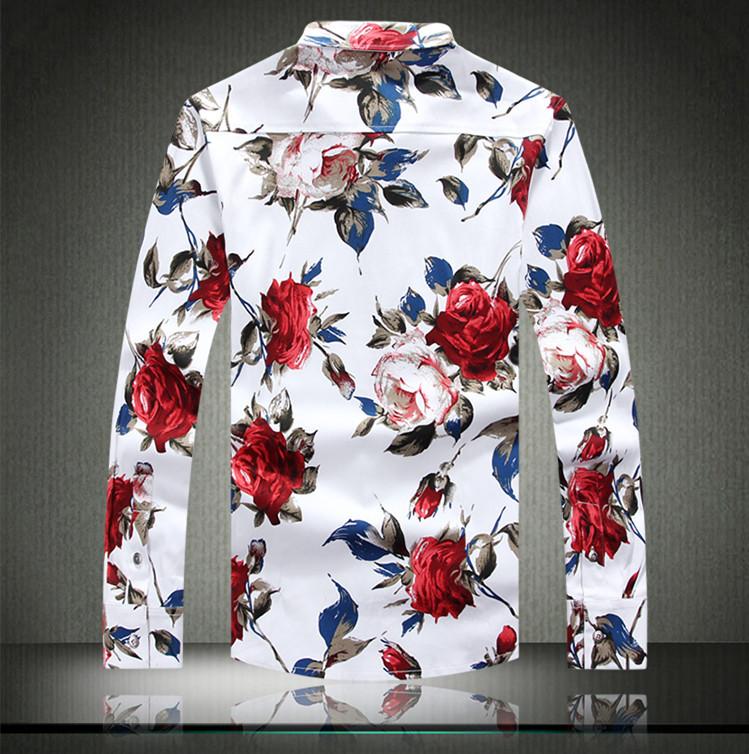 Floral Roses Print Rose Print Floral Shirts