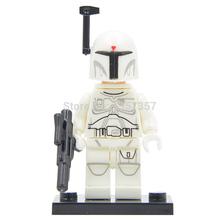 Star Wars 7 Minifigures White Boba Fett Single Sale The Force Awakens Starwars Building Blocks Set Model Figures Toys
