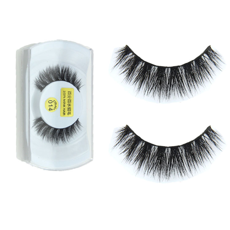 1 Pair 100% Women Lady Real Mink Black Natural Thick False Fake Eyelashes Eye Lashes Makeup Extension Tools