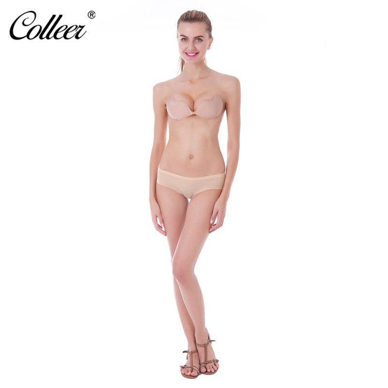 COLLEER Sexy BH Super Push Up Bra Silicone Lace Bralette Plus Size Bra Invisible Backless Strapless Bras For Women Underwear