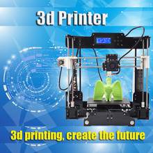 High Precision Reprap Prusa i3 3d DIY Printer kit with 1 Roll 16GB SD card Big