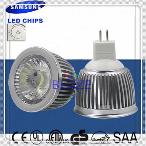 10pcs/Lot Top Selling Driverless dimmable 230V MR16 GU5.3 SAMSUNG AC COB lampe 6W led spotlight bulbs 4-Year Warranty(China (Mainland))