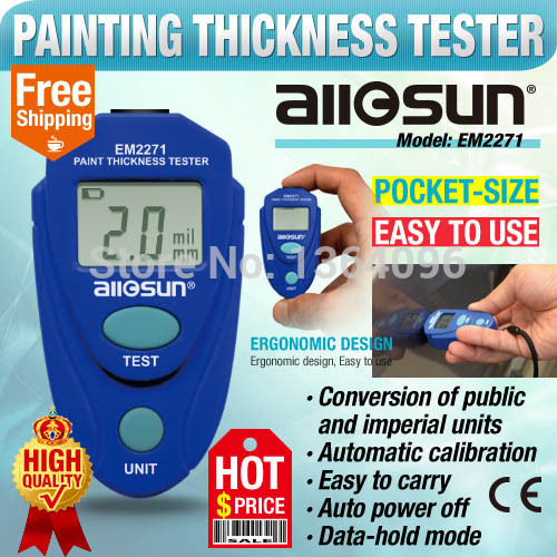 all sun Coating Thickness Gauge Car Paint Thickness Meter Coating Thickness Tester Digital LCD With Russian