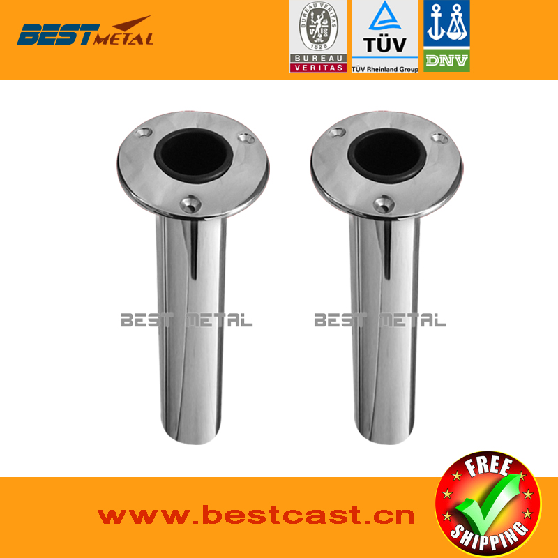 2 Pieces/ Lot BEST METAL stainless steel 316 fishing rod holder of marine hardware for boat and yacht fishing<br><br>Aliexpress