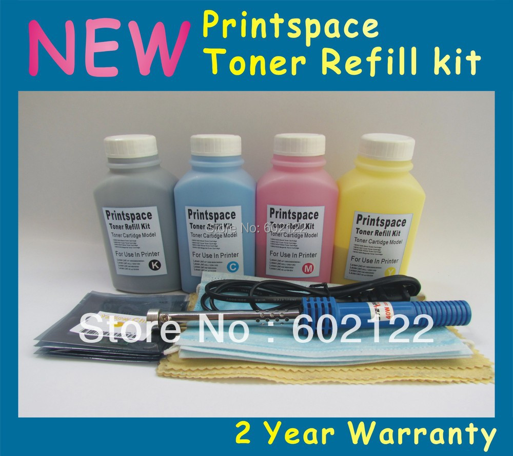 4x NEW Toner Refill Kit + Chips For HP128A  CP1525 CP1525nw CM1415 CM1415nfw KCMY Free shipping<br><br>Aliexpress