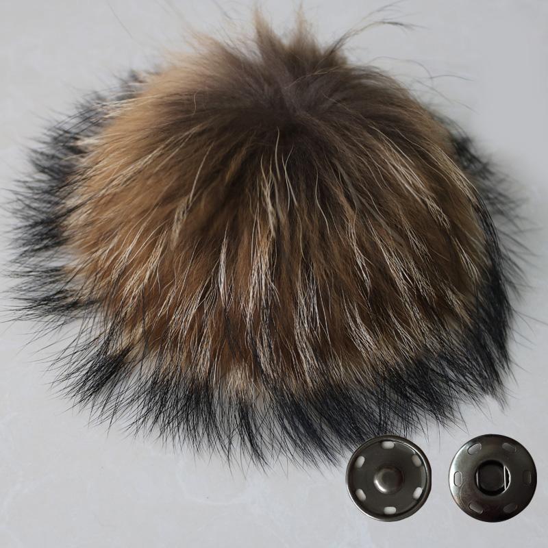 50pcs Promotion! 100% Real Raccoon Fur Pom Pom 15CM Winter Skullies Beanies Hats/Cap/Bags/Key Natural Fur Pompoms Free Shipping(China (Mainland))