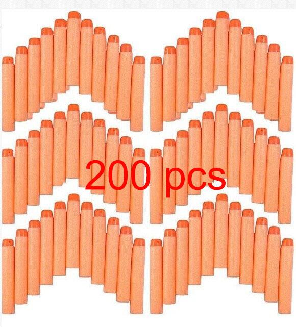 200pcsx 7.2*1.2cm Toy Gun Bullet Darts Round Head For Hasbro Children NERF N-Strike toy gun foam darts free shipping(China (Mainland))