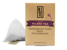 Royal Puer Tea, Whole Leaves Puer Tea In Pyramid Tea Bag, 50 pieces, by KITE