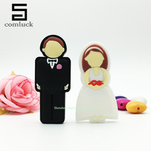 Full capacity flash pen drive Valentine's day wedding gift usb flash drive2.0 bride and groom flash card 16gb 32gb 8gb usb stick(China (Mainland))