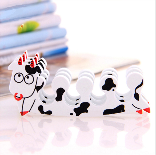 40pcs/20 pairs Milk Cow Pedicure Nail Tools Manicure Set Dividers for the Toes Foam Feet Care the Separator Fingers for Legs(China (Mainland))