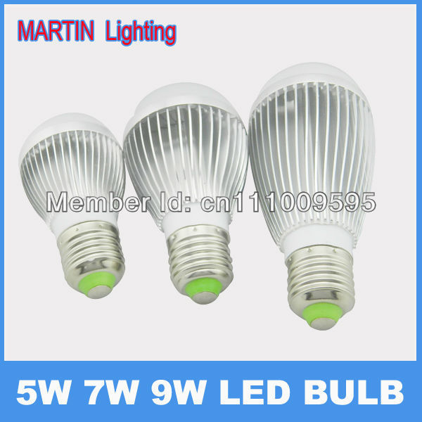High quality 5W 7W 9W Cree LED globe light bulb lamps bedroom household lighting AC85-265v