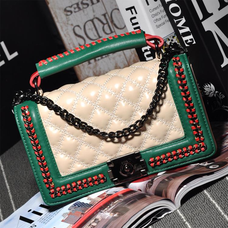 Brand C style designer thread plaid sac chain leather women bag lady handbags party evening bag crossbody bags phone package B27(China (Mainland))