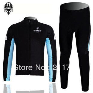 Bianchi Team Long Sleeve Cycling Jerseys & Pants Cycling Clothes Autumn & Spring Seasons(China (Mainland))
