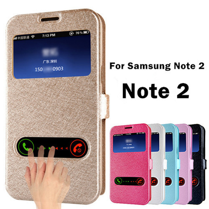 Hot Luxury Note2 Silk Pattern Flip Cover Case Samsung Galaxy Note 2 II N7100 PU Leather Phone Bags Cases Stand Design - Shenzhen Chancit Technology Co., Ltd. store