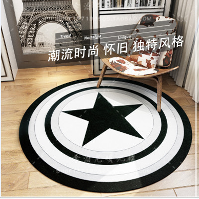 Personalized custom United States captain shield black and white carpet floor mats, mats, Rugs, living room, tea table mat bed b(China (Mainland))