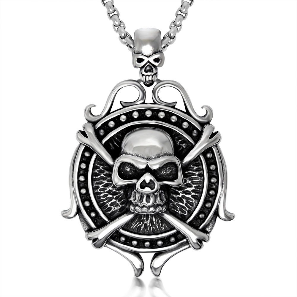 2015 Cool Styles Men's Jewelry Stainless Steel Skull Pendant Punk Designs Holloween Days - Ladies Home store