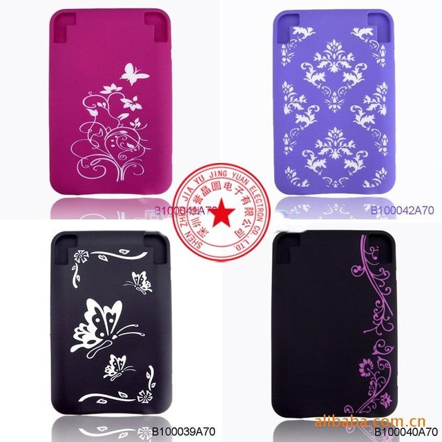 2011 NEW hot sale (200pcs) silicon case for amazon kindle 3 e-book (pink,white,red,black)