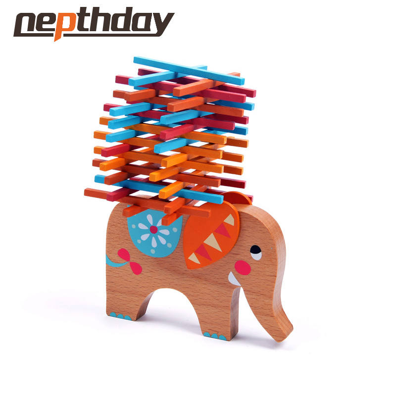 Colorful Rods Balance Beam Children's Toys Puzzle Parent-child Game Elephant Balance Games Educational Learning Toys 11-358(China (Mainland))