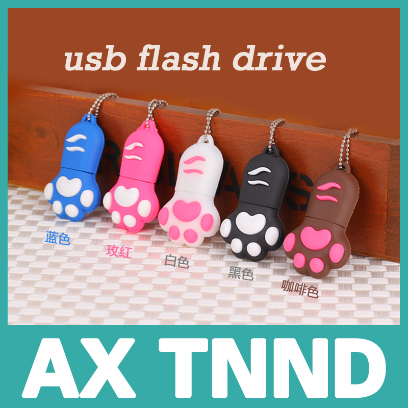 USB New Cartoon Cat Claw Usb flash drive PenDrive fashion USB 2.0 Flash stick 16gb 8gb Memory U Disk pendrive/car/gift/disk(China (Mainland))