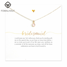 Buy FOMALHAUT bridesmaid round pinkstone Pendant Necklaces Clavicle Chains necklace Fashion Women Jewelry for $1.19 in AliExpress store