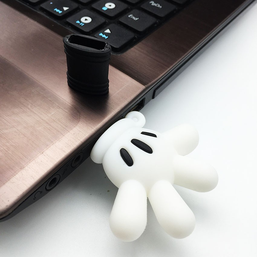 Cartoon Mickey Hand USB Stick Pendrive Stick Device USB Storage Card Pen Drive 128GB 64GB 32GB 16GB 8GB 4GB USB Flash Drive Disk