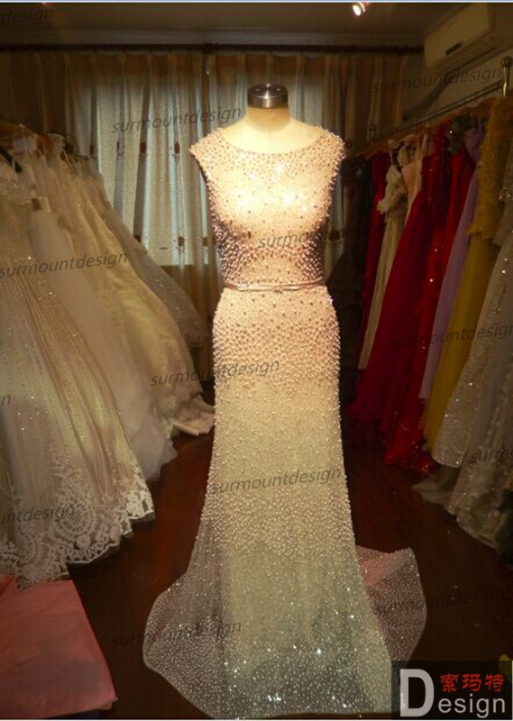 DF99 Surmount 100% Real Sample Dress Heavy Beaded Floor-Length Dresses For Sale Real Picture(China (Mainland))