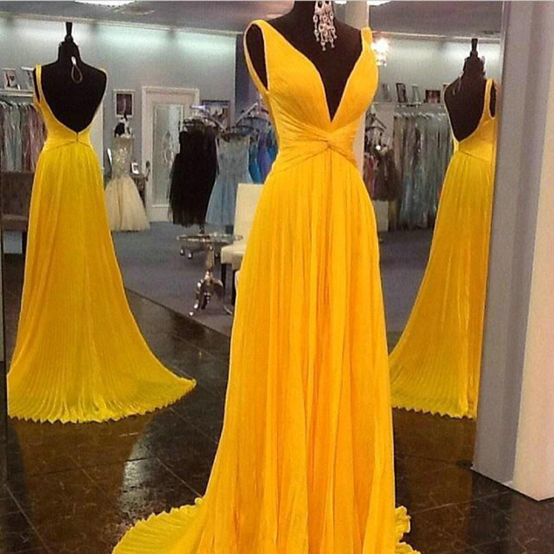 Yellow Gold Prom Dresses 70