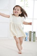 2016 New Fashion Cute Baby Girl Dress Toddler Girls Summer Wear with Printed Flowers in 100% Cotton(China (Mainland))