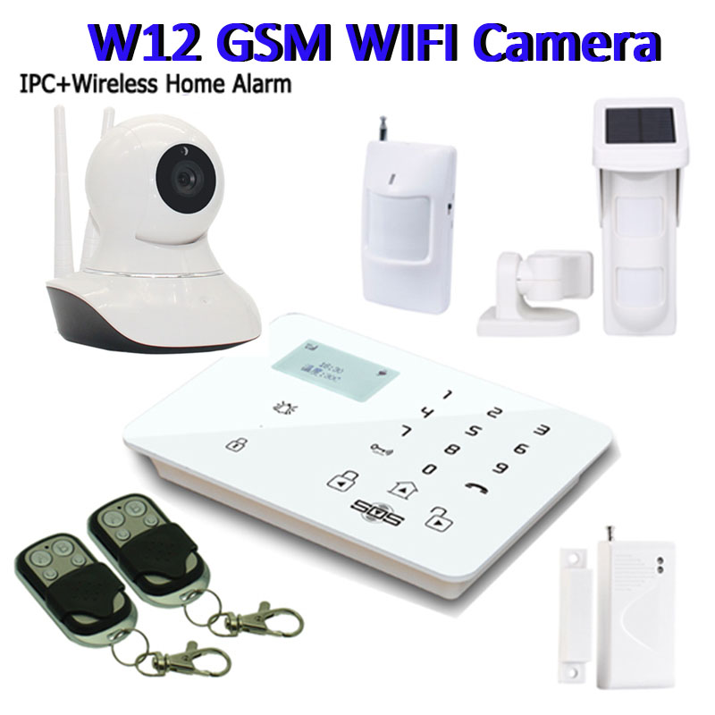 gsm camera alarm wifi camera ip remote monitoring sms alarm wireless security system gsm panel. Black Bedroom Furniture Sets. Home Design Ideas