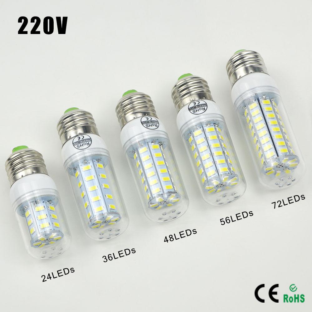 Lampada LED E27 Energy Saving 5730 SMD 24/36/48/56/69/72LEDs Ball Bulb Lamps 220V Replace CFL 7W 12W 15W 20W 25W 30W Light Bulb(China (Mainland))