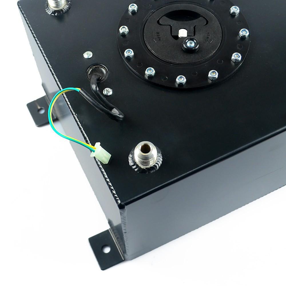 VR RACING-BLACK 20L Aluminium Fuel Surge tank Fuel cell  with sensor foam inside VR-TK39BK