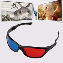 2016 Black Frame Red Blue 3D Glasses For Dimensional Anaglyph Movie Game DVD Hot Newest(China (Mainland))